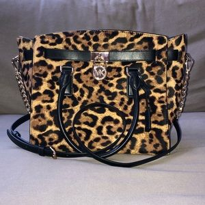 Michael Kors Large Hamilton Genuine Calf Hair Bag